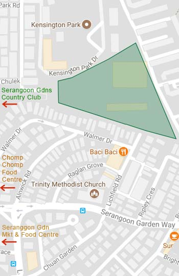 The Garden Residences Location Map